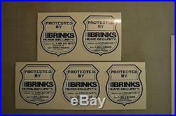 10 Brinks Home Alarm SECURITY SURVEILLANCE DECAL WINDOW DOOR STICKER Die Cut
