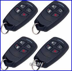 10 pk Honeywell Ademco 5834-4 Four-Button Wireless Key Remotes
