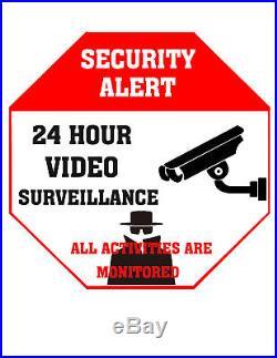 24 Hour Video Surveillance Security Yard Sign Aluminum Like ADT 500 pieces lot