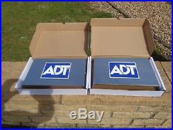 2 x Dummy burglar alarm /sounder / bell box, ADT stainless steel