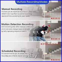 5MP 2TB Home Security Camera System, SAFEVANT 8 Channel Super HD 5MP CCTV DVR W