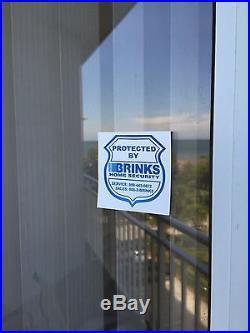 5 Home Alarm Security Stickers / Decals Signs for Windows & Doors ADT Brinks