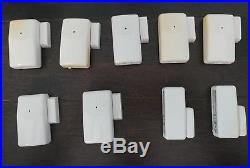 7 ADT EV-DW4927 Shock Sensors and 2 ADT Door Sensors Home Security System