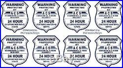 8 GPS VIDEO SURVEILLANCE Security Burglar Alarm Decal Warning Sticker Signs
