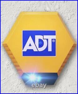 ADT Alarm Box Solar Powered Twin Flashing L. E. D Window Stickers (FREE POSTAGE)