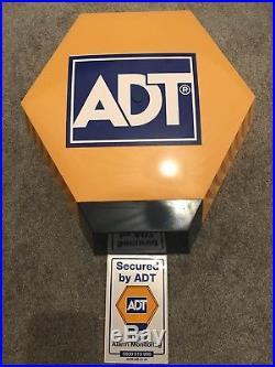 ADT Dummy Alarm Box With Flashing LEDs & Window Sticker
