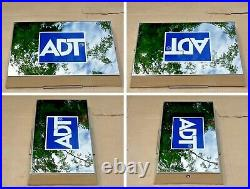 ADT Polished Stainless Steel Twin LED Live Alarm Siren Sounder Bell Box NEW