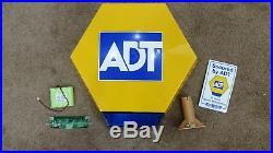 ADT Solar LED Flashing Alarm Bell Box Decoy Dummy + Bracket And Battery