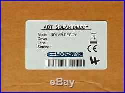 ADT Solar LED Flashing Alarm Bell Box Decoy Dummy Kit +Bracket + Battery Ref4