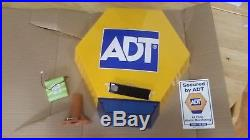 ADT Solar LED Flashing Alarm Bell Box Dummy + Bracket And Battery