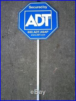 ADT Yard Sign with Aluminum Stake Home Security Alarm System Sign