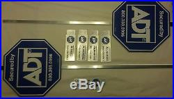 ADT yard signs (2) and 5 window decals