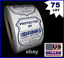 BULK 75 LOT BRINKS ADT Home Apartment Security System Warning Sticker Decals