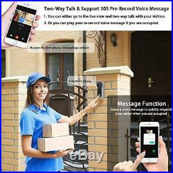 Doorbell Camera Video Doorbell Waterproof/1080P HD/32GB Micro SD Card/Night Visi