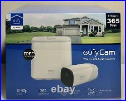 EufyCam Wireless Home Security System 1-Cam Kit 1080P NEW T88001D1