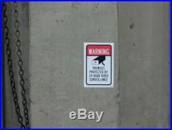 For sale 7 VIDEO SURVEILLANCE Security Decal Warning Sticker (warning)