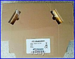Genuine ADT Solar LED Flashing Alarm Bell Box Decoy Dummy Kit +Bracket + Battery