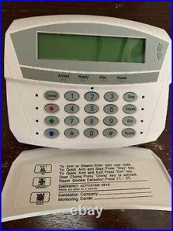 InterlogiX CADDX GE Security NetworX NX-1192E LCD Alarm Keypad UTC NX-148E Used