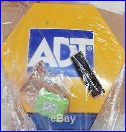 NEW ADT Solar LED Flashing Alarm Bell Box Decoy Dummy Kit. + Bracket And Battery