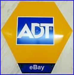 NEW ADT Solar LED Flashing Alarm Bell Box Decoy Dummy Kit Bracket & Battery Ref2