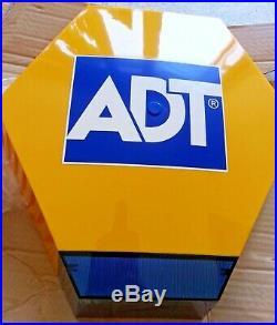NEW ADT Solar LED Flashing Alarm Bell Box Decoy Dummy Kit Bracket & Battery Ref3