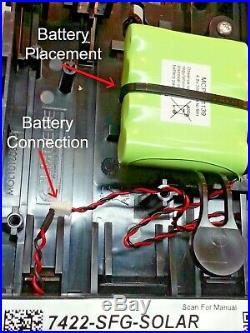 NEW STYLE ADT Solar LED Flashing Alarm Decoy Dummy Kit + Extended Life Battery
