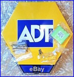 NEW STYLE ADT TWIN LED Flashing Solar Decoy Bell Box Dummy Kit + Battery
