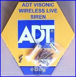 NEW STYLE ADT VISONIC Live Wireless Alarm Siren Sounder (868-0) 7422 SFG RF