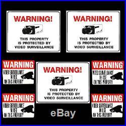 SECURITY SYSTEM SURVEILLANCE CAMERAS ALARM WARNING YARD SIGNS+ADT