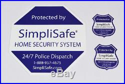 SimpliSafe security sign, yard sign, decal, post sticker (ADT Frontpoint Vivint)