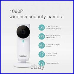 SpotCam FHD Wireless Home Security Camera, 1080p HD, Indoor, Night Vision, Two-W