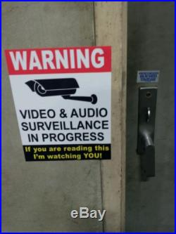 VIDEO SURVEILLANCE Security Decal Warning Sticker (if you are.) set of 7