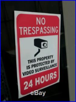 VIDEO SURVEILLANCE Security Decal Warning Sticker (no trespassing)set of 7 pcs